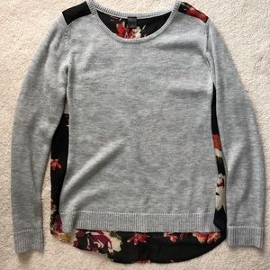 Mixed material sweater